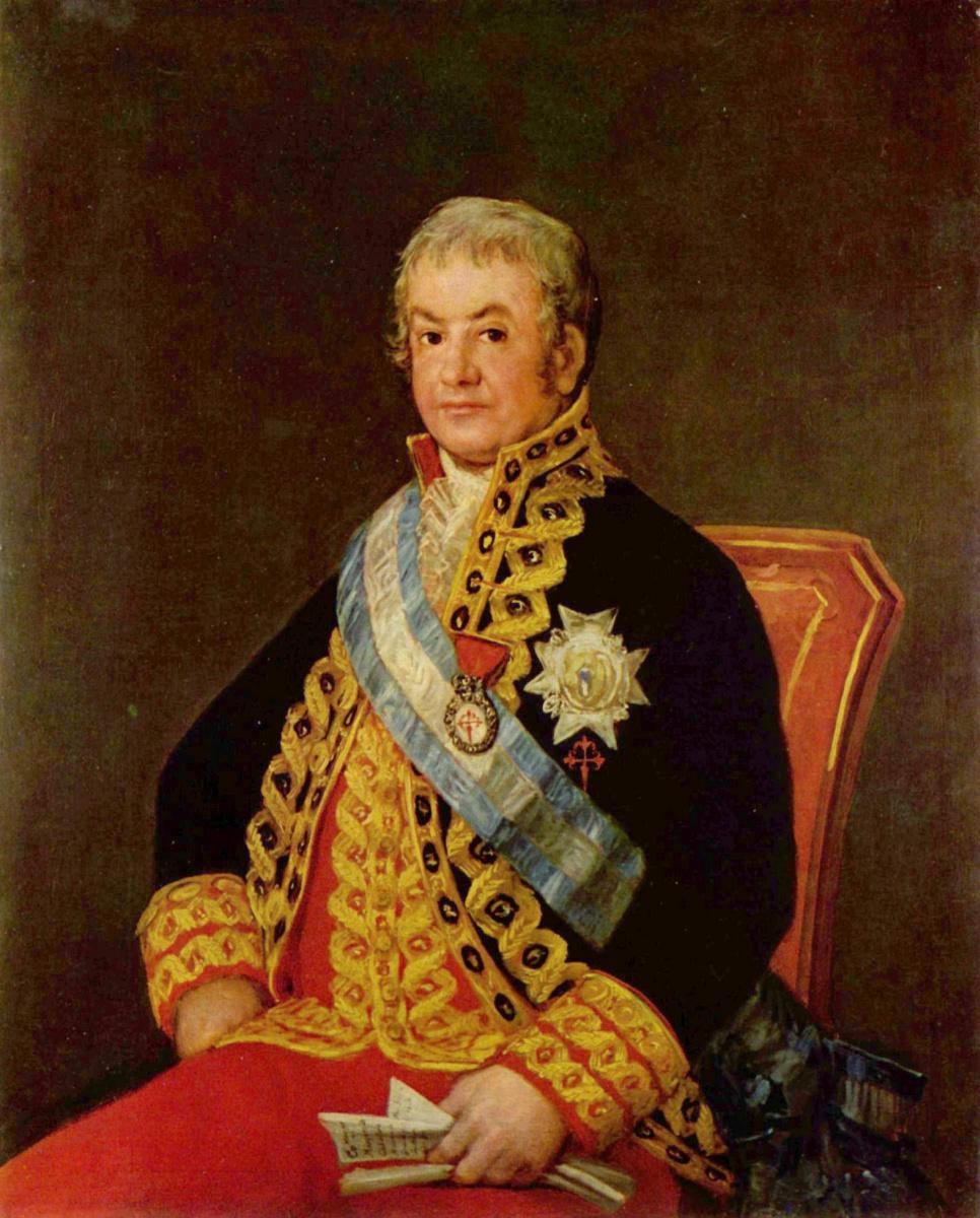 Франсиско Гойя. Портрет министра юстиции Испании Хосе Антонио Маркеса Кабальеро