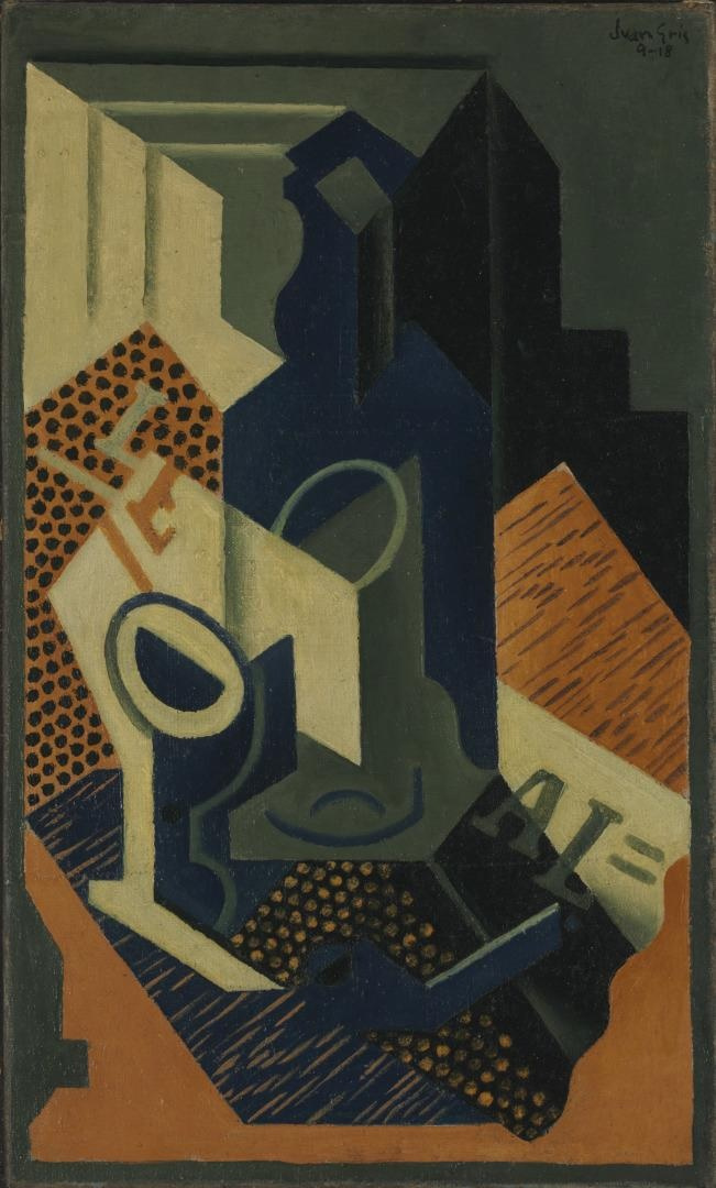 Juan Gris. Bottle and glass