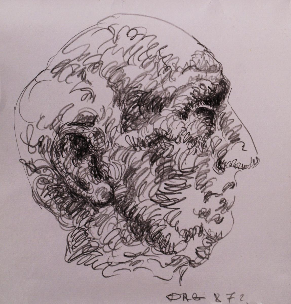 Alexander Ocher Kandinsky-DAE. Male profile