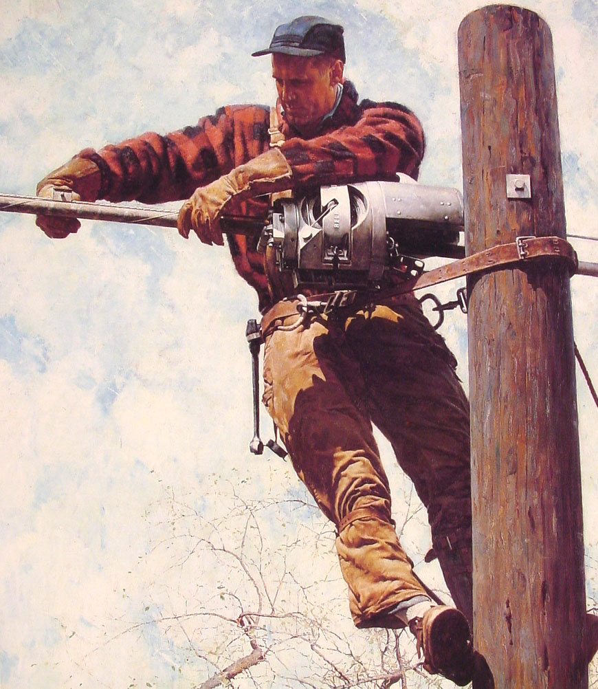 Electrician by Norman Rockwell: History, Analysis & Facts