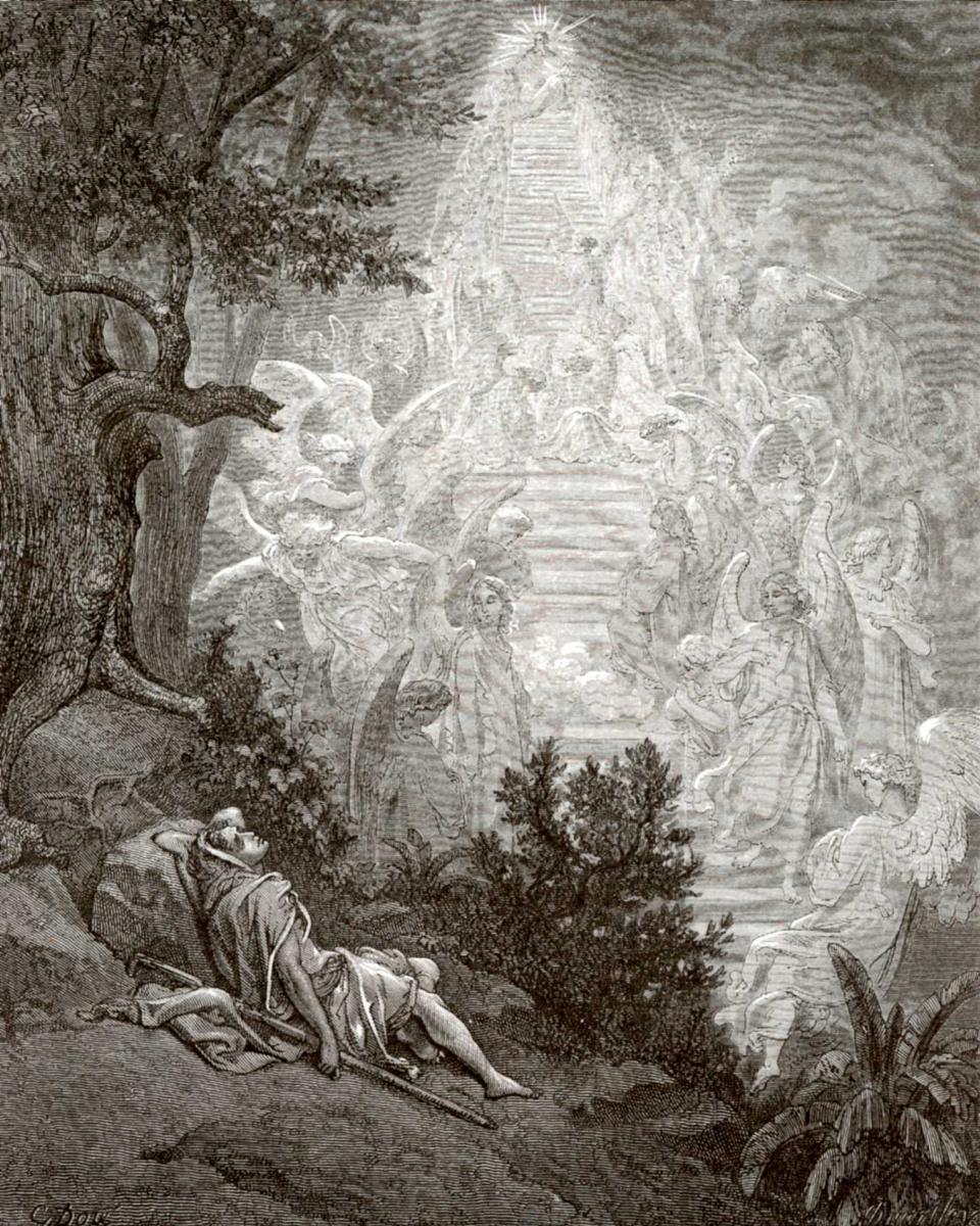Поль Гюстав Доре. Иллюстрации к Библии: сон Иакова