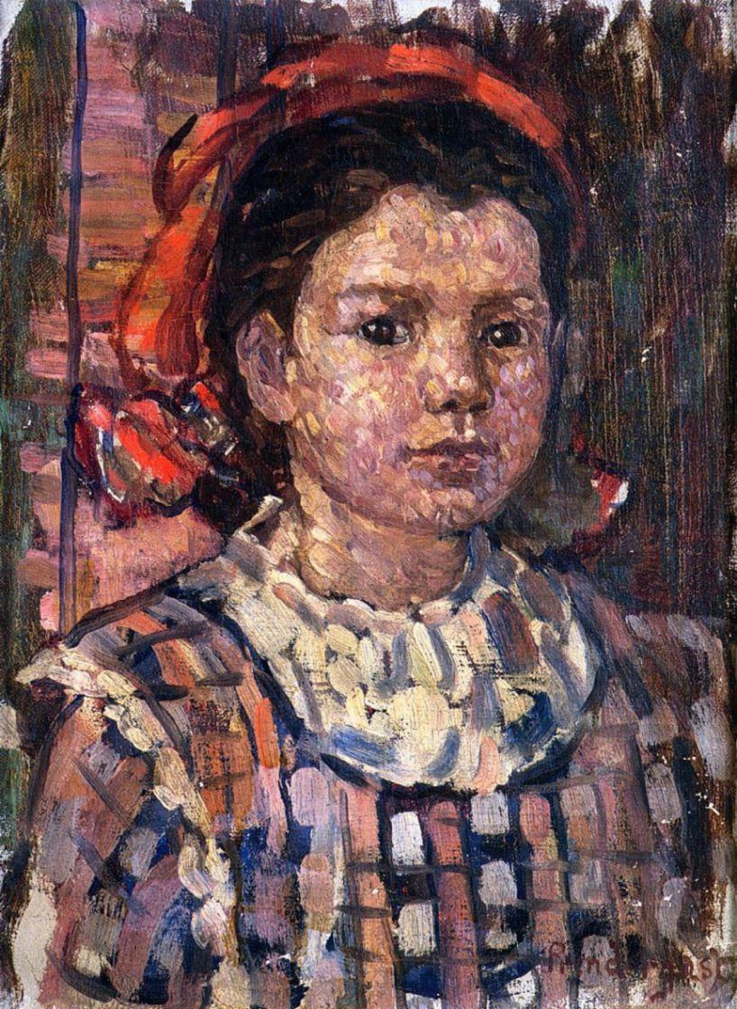 Maurice Braziel Prendergast. Portrait of a girl