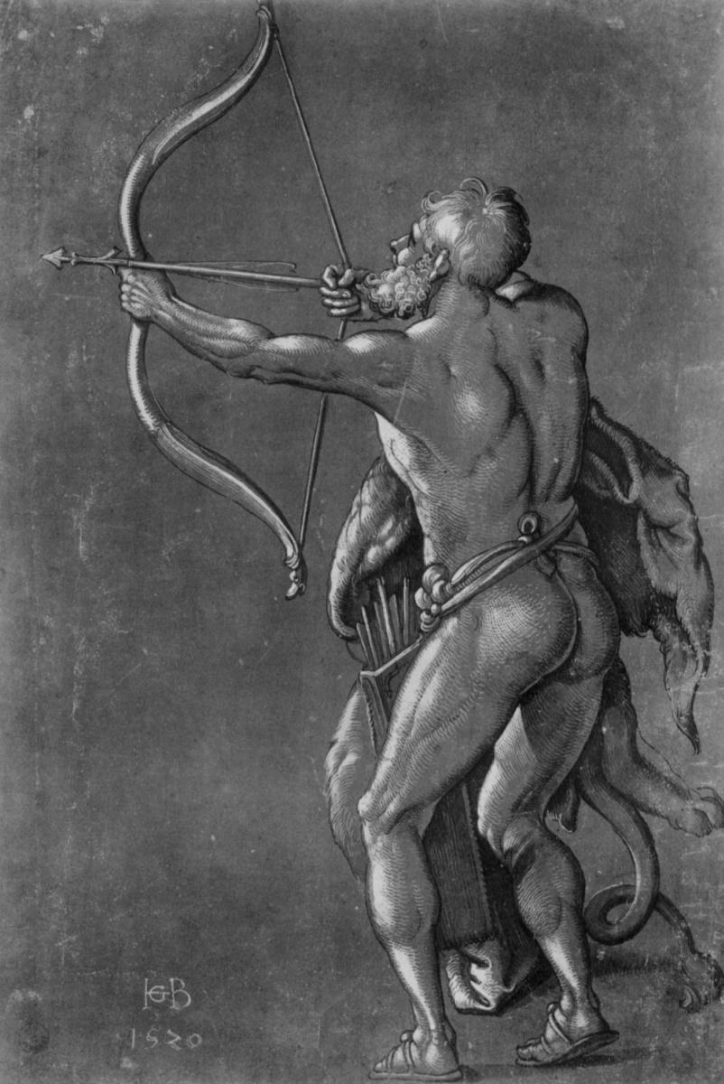 Ханс Бальдунг. Геракл, стреляющий из лука