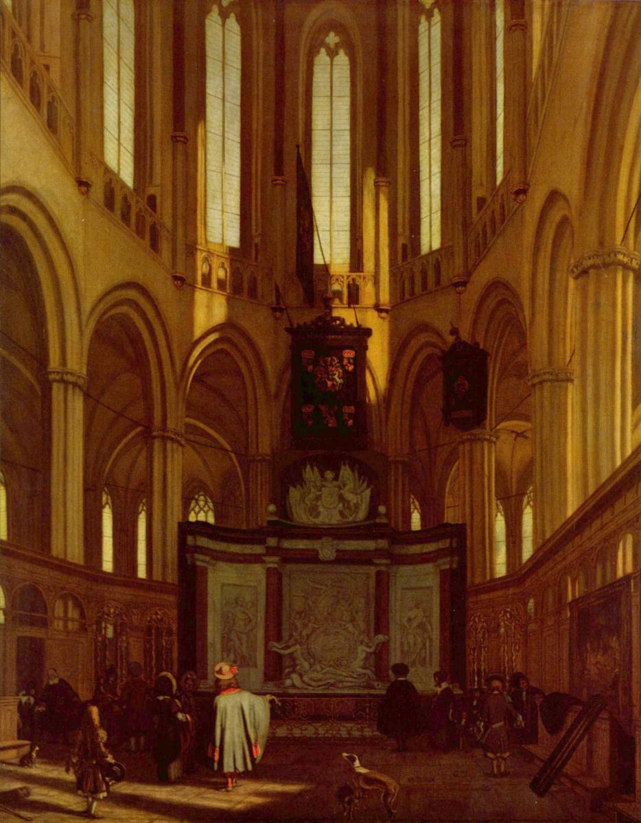 Эмануэль де Витте. Хоры Новой церкви в Амстердаме