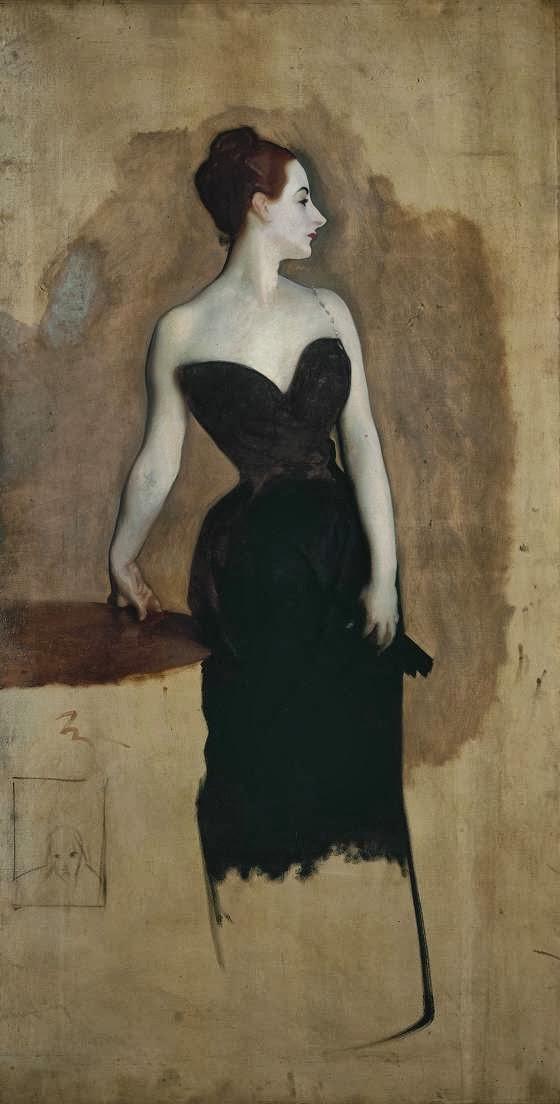 John Singer Sargent. Sketch for a portrait of Madame Gotra