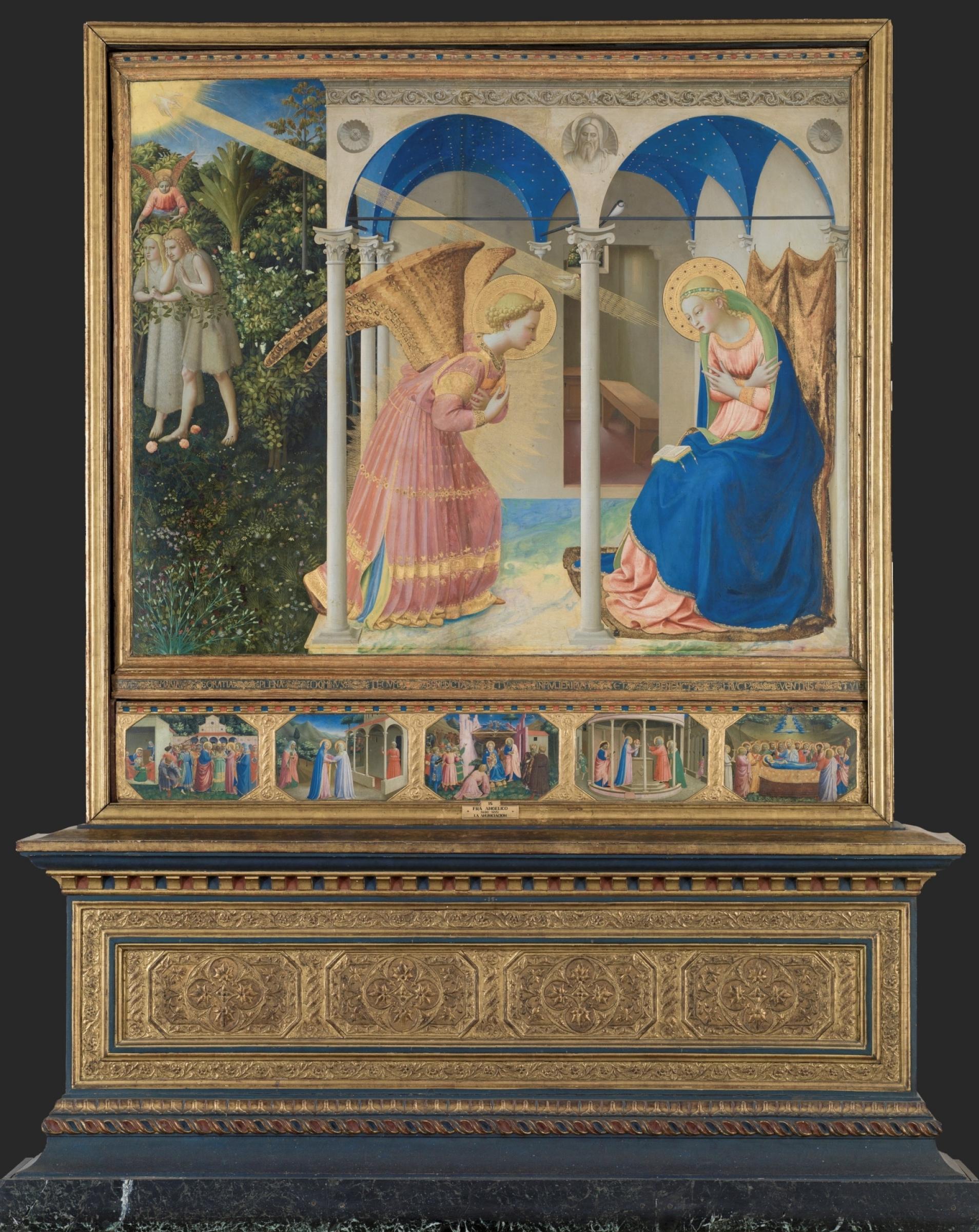Фра Беато Анджелико. Алтарь с пятью пределлами: Благовещение Марии