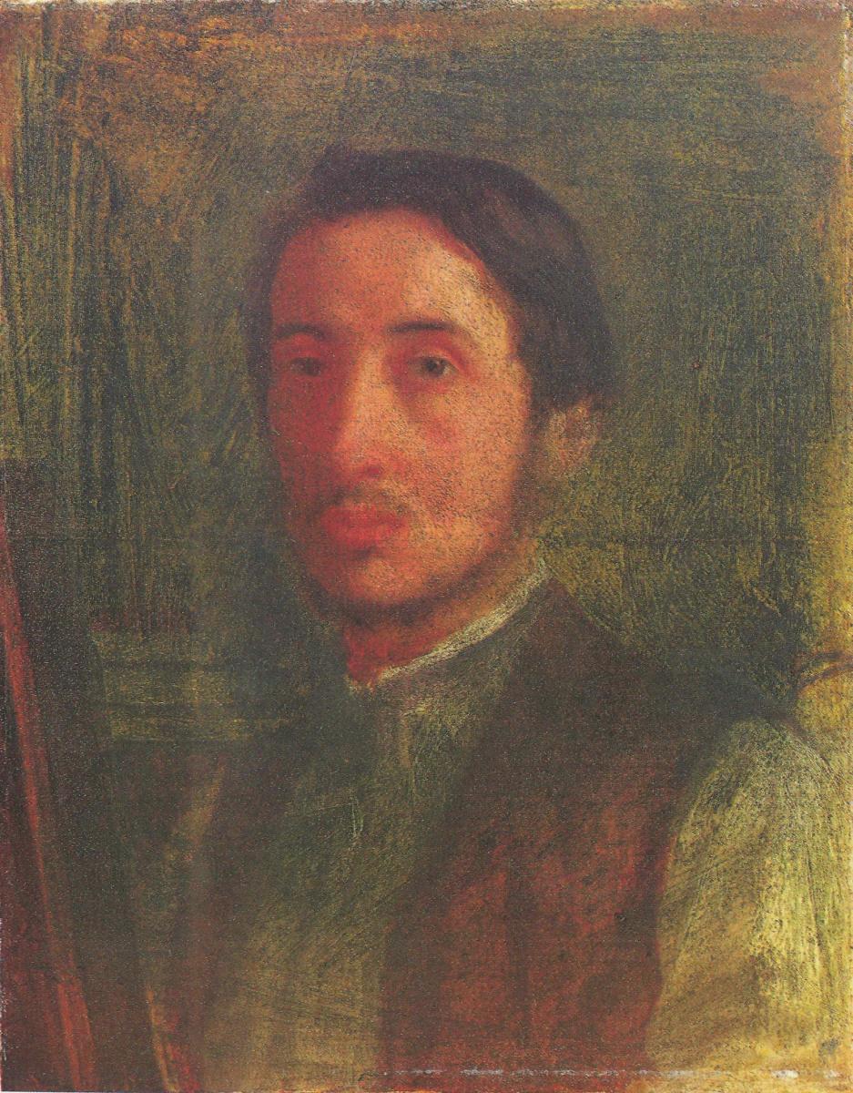 Edgar Degas. Self-portrait in a brown vest