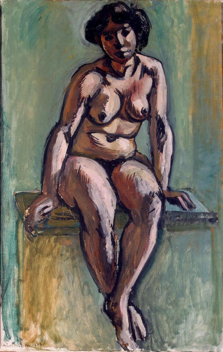 Анри Матисс. Сидящая женщина