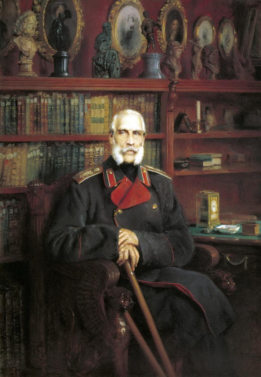 Константин Егорович Маковский. Портрет графа Сергея Георгиевича Строганова