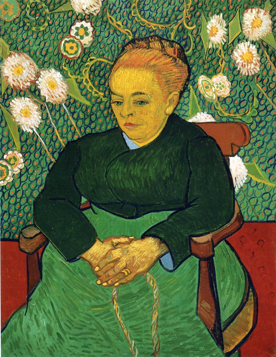 Винсент Ван Гог. Колыбельная, портрет Августины Рулен