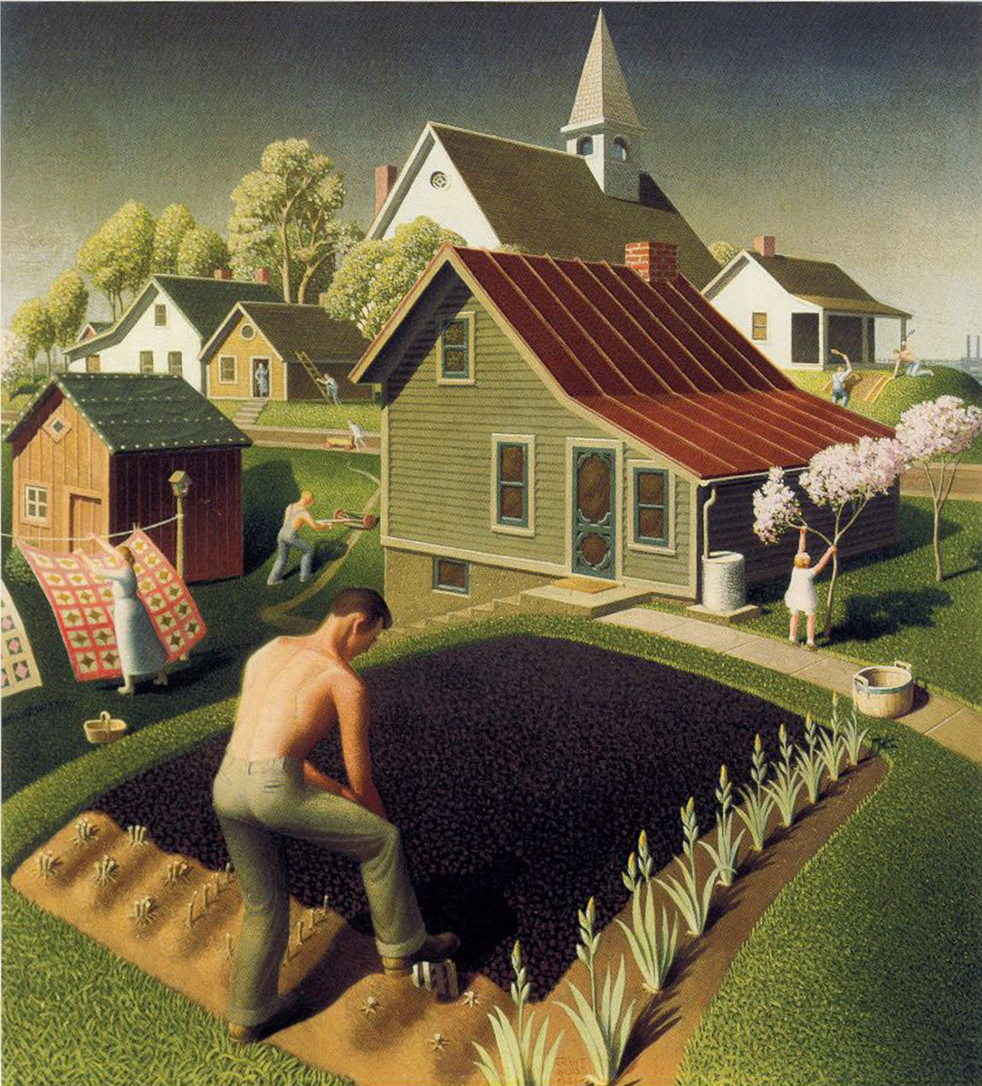 Grant Wood. Spring in the city