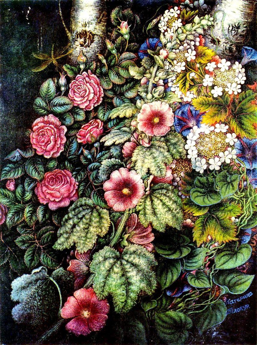 Kateryna Vasylivna Bilokur. Mallows and roses