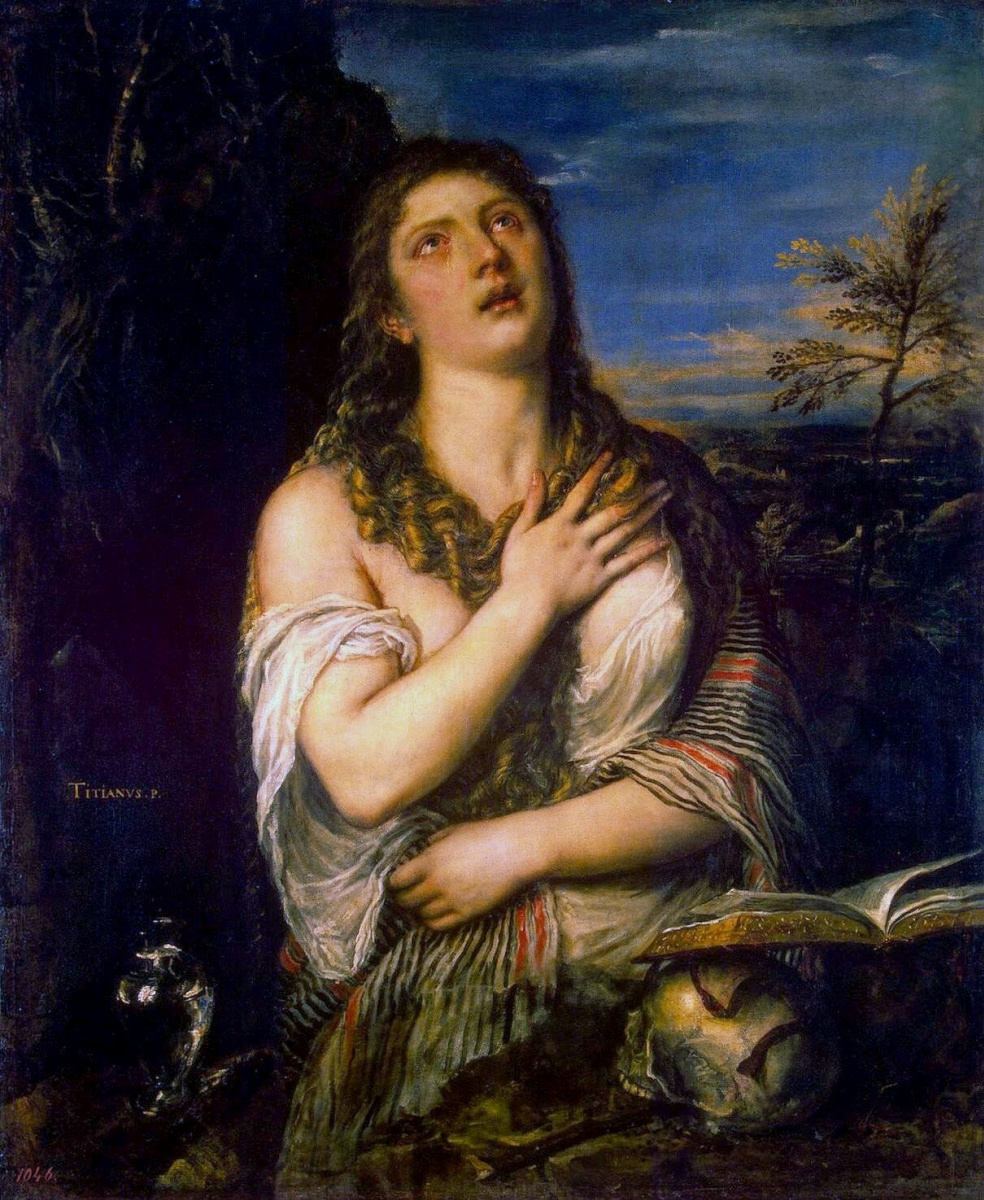 Titian Vecelli. Penitent Mary Magdalen
