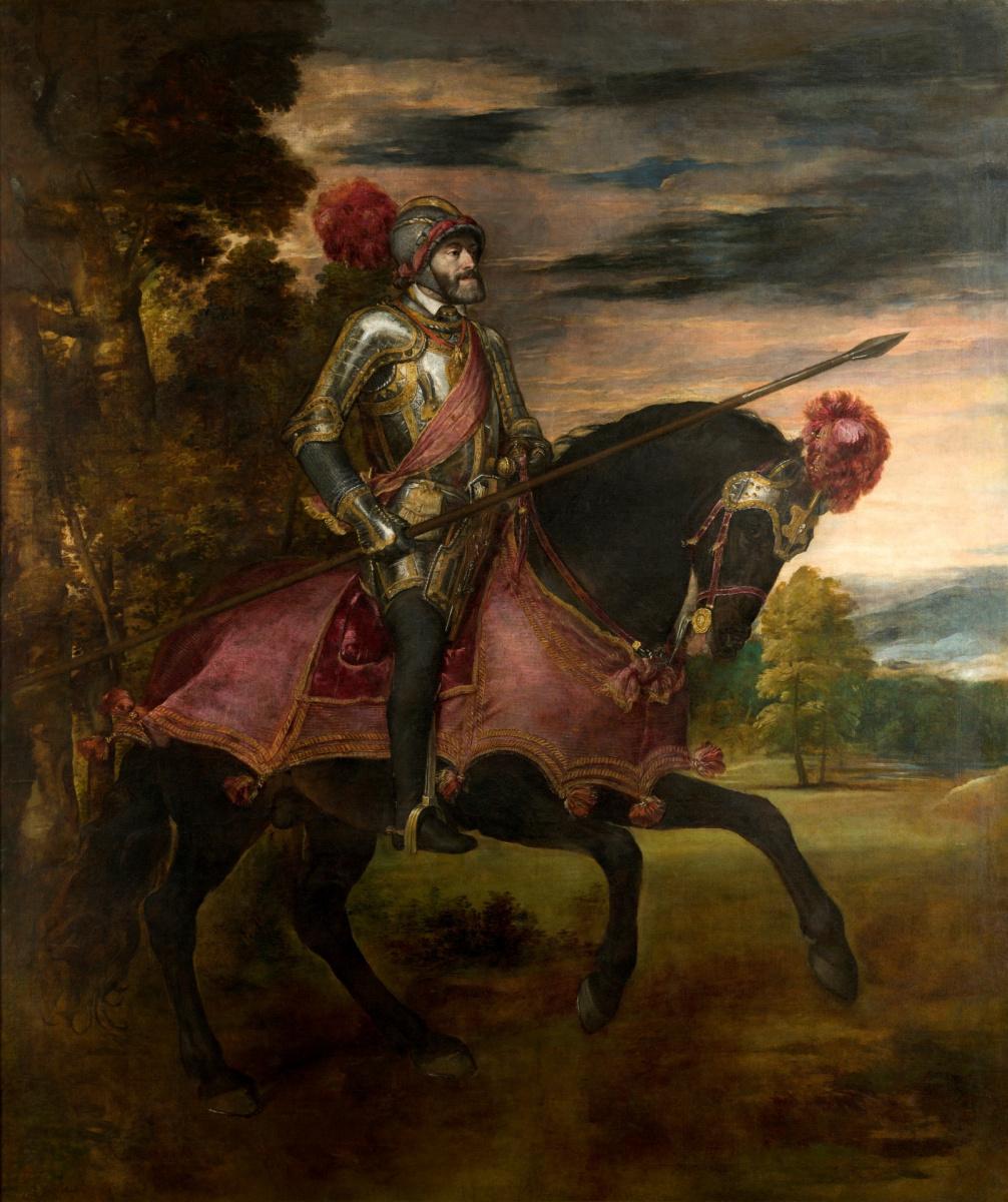 Тициан Вечеллио. Карл V в битве при Мюльберге