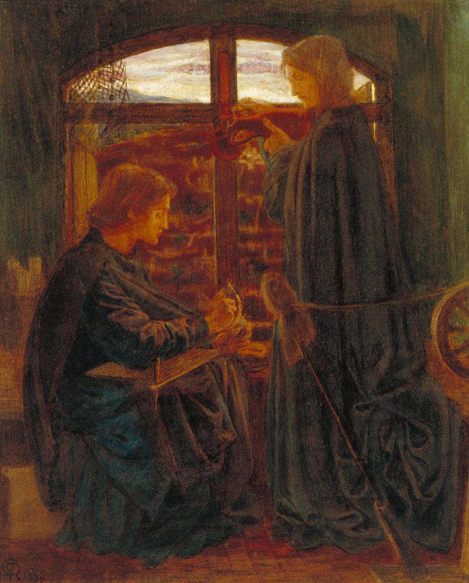 Данте Габриэль Россетти. Мария в доме Св. Иоанна