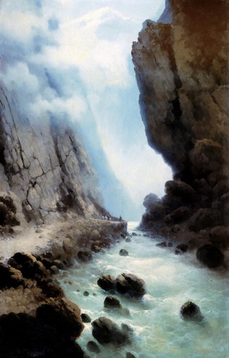 Ilya Nikolayevich Zankovsky. Dariali gorge