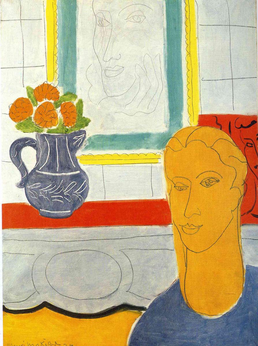 Анри Матисс. Портрет с вазой