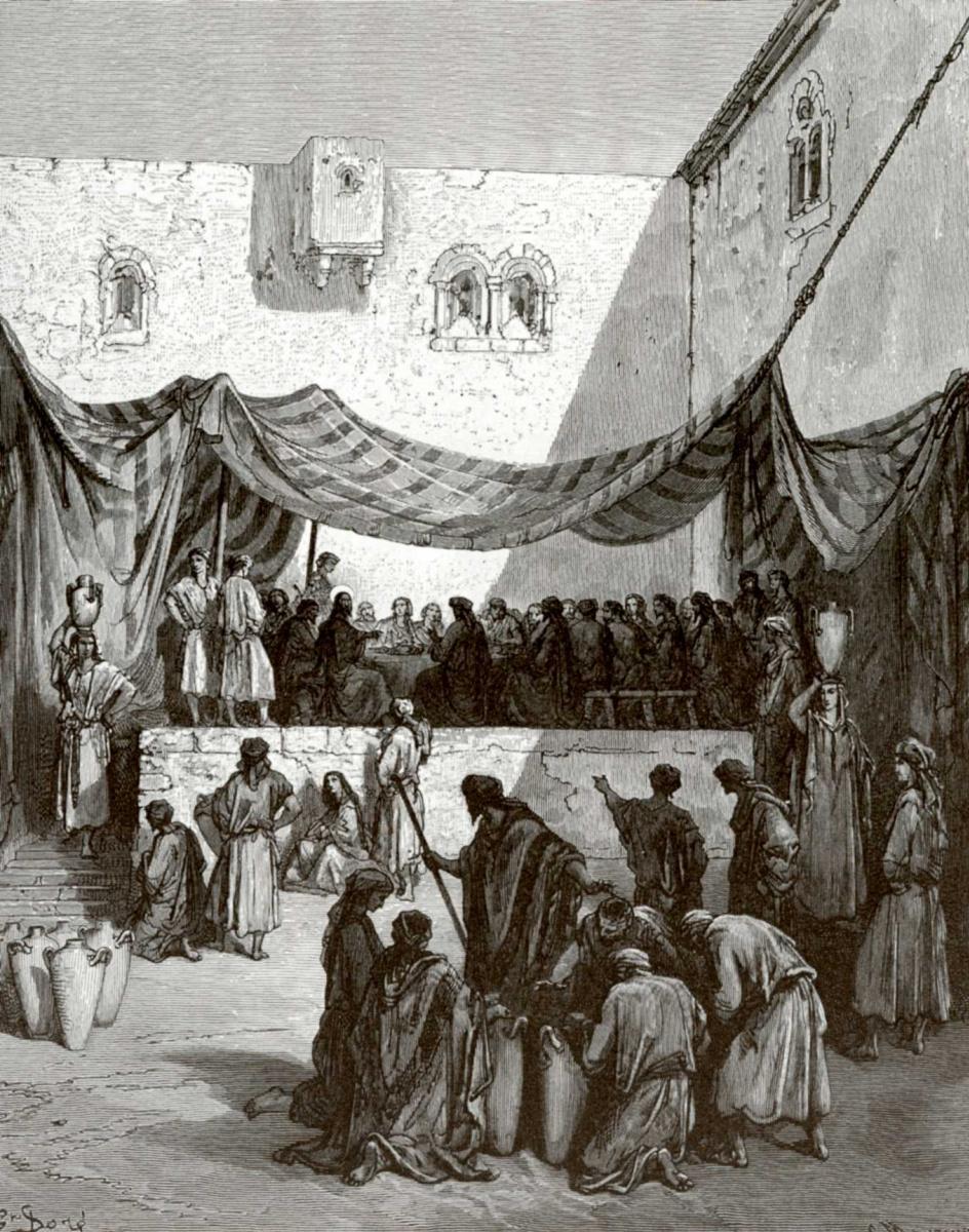 Поль Гюстав Доре. Иллюстрация к Библии: Брак в Кане Галилейской