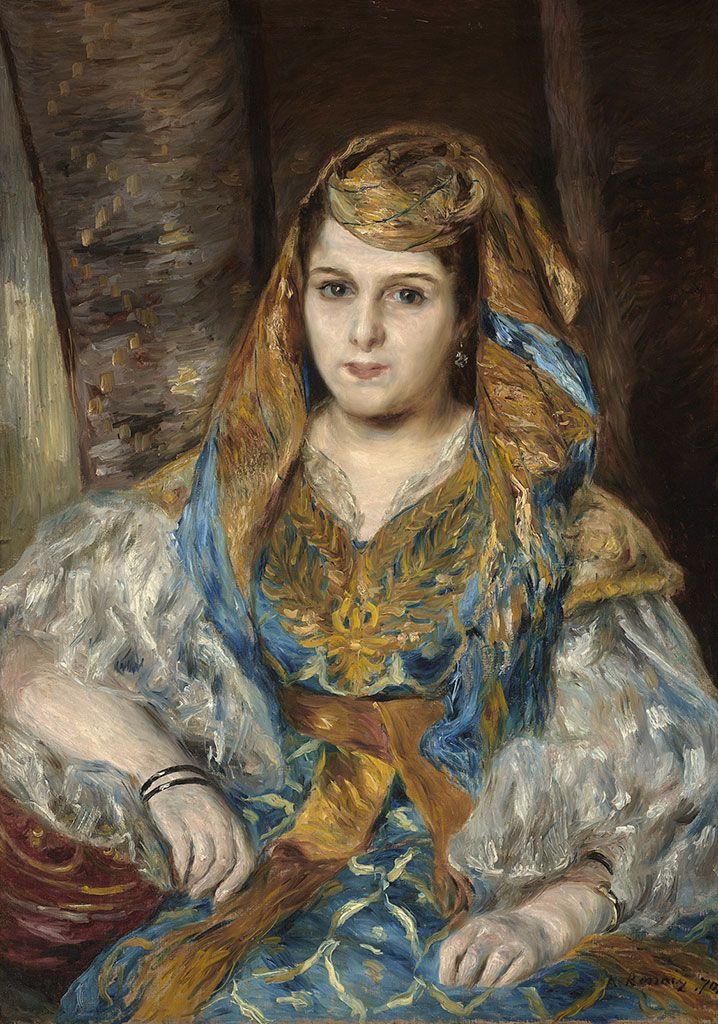 Пьер Огюст Ренуар. Мадам Клементина Валенси Стора (Алжирская женщина)