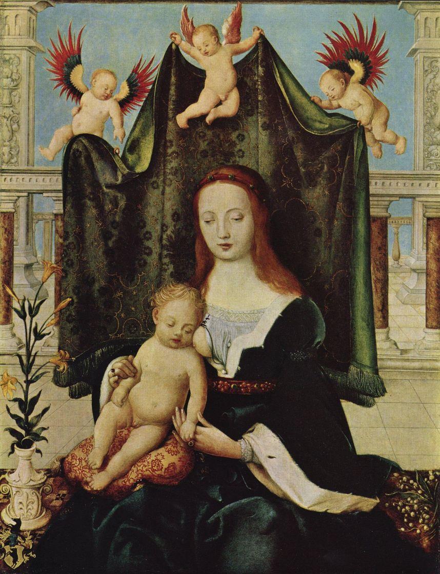 Ганс  Старший Хольбейн. Мария с младенцем