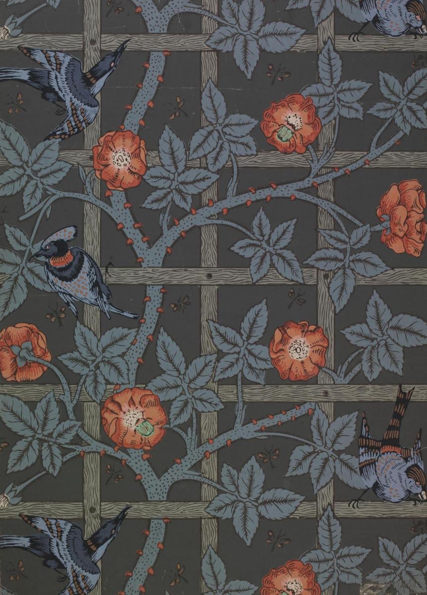 Уильям Моррис. Птицы и цветы на решетке