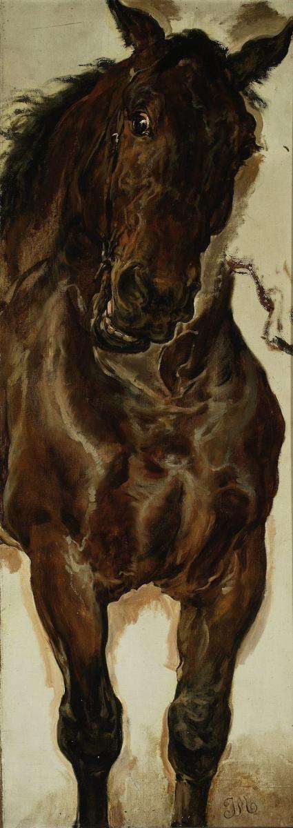 """Ян Матейко. Конь Казимира. Эскиз для картины """"Битва при Грюнвальде"""""""