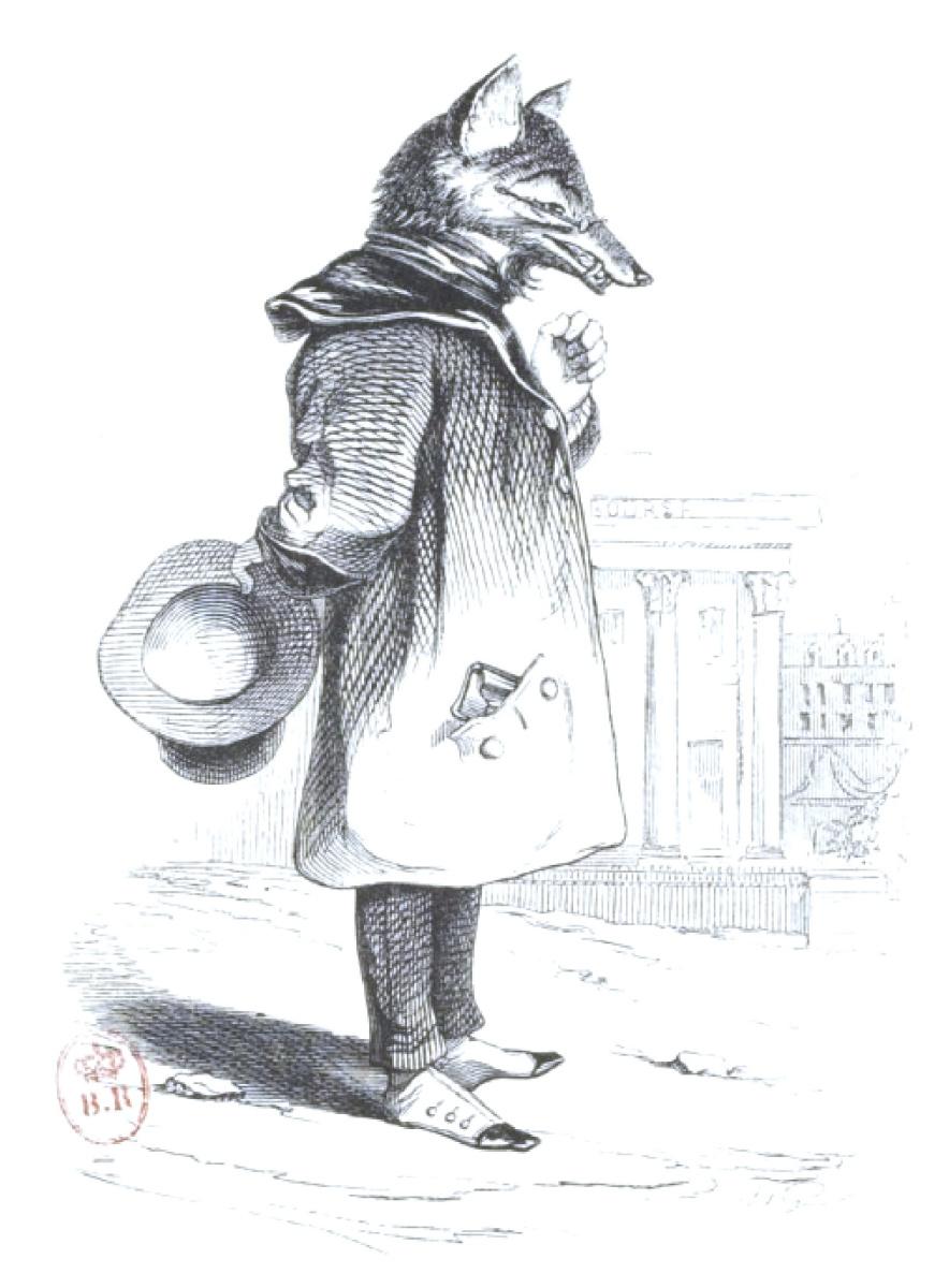 """Жан Иньяс Изидор (Жерар) Гранвиль. Слушая песни петуха... """"Сцены общественной и частной жизни животных"""""""
