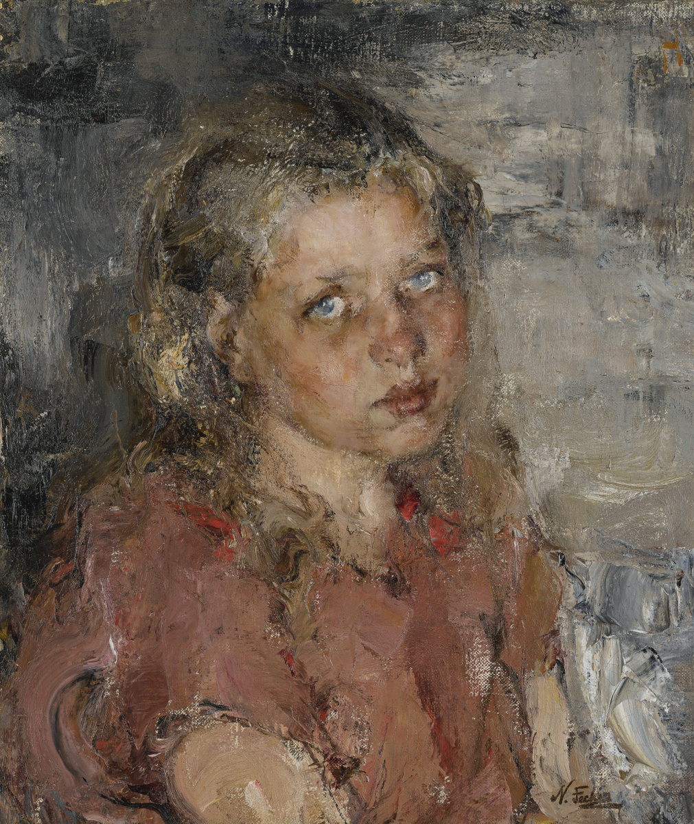 Nikolay Feshin. Portrait of a Young Girl