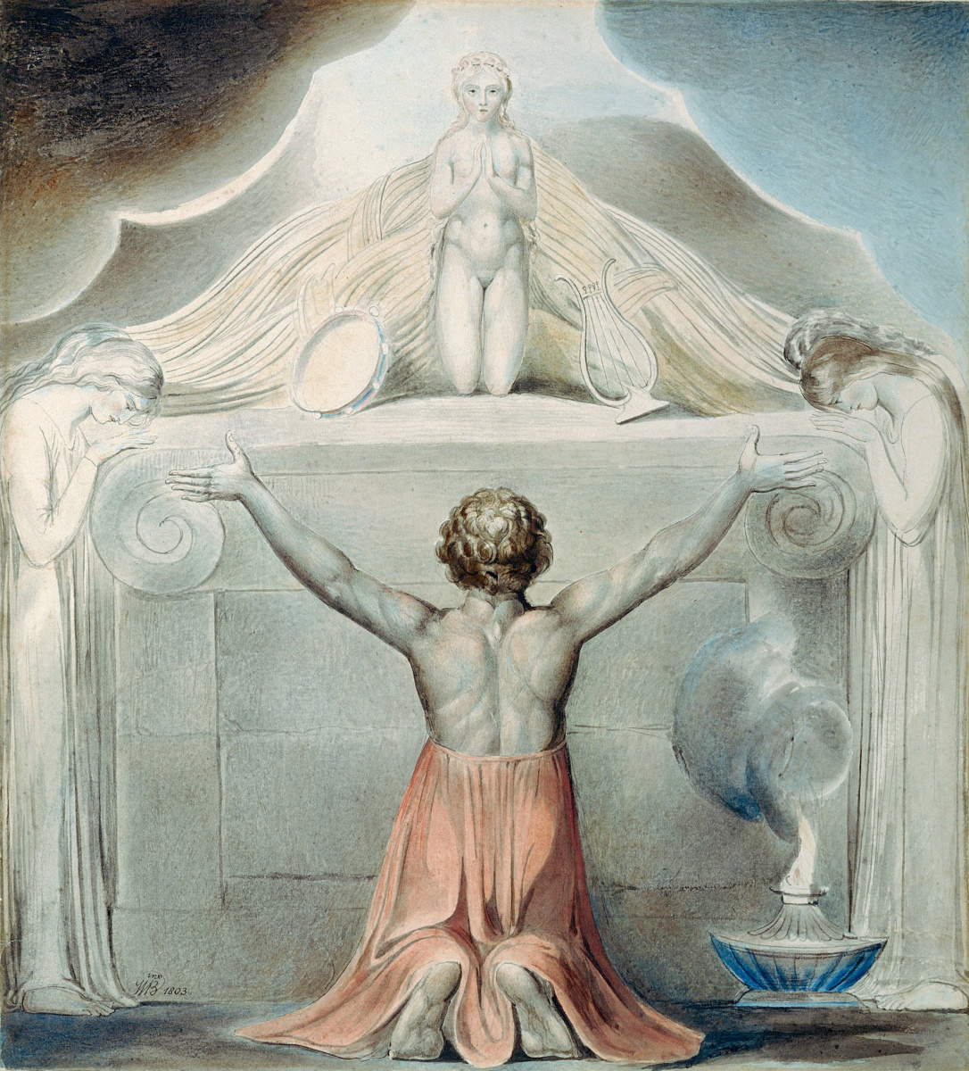 William Blake. Illustrations of the Bible. The sacrifice of Jephthah's daughter