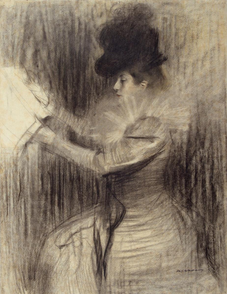 Рамон Касас Карбо. Портрет женщины с журналом