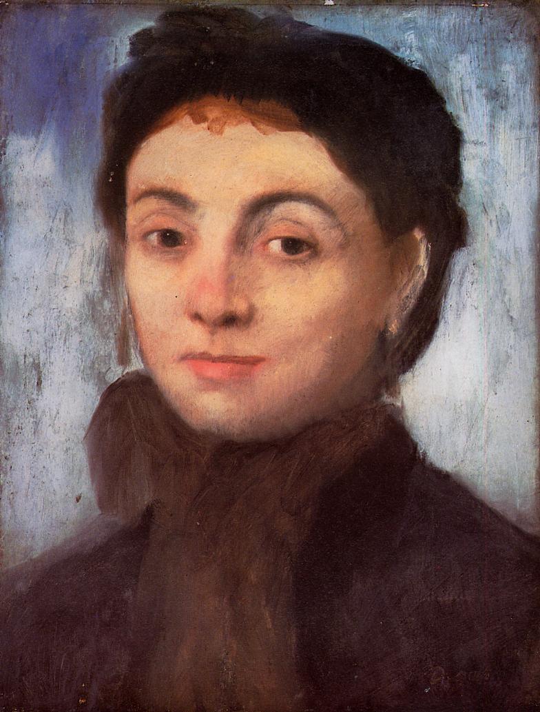 Edgar Degas. Portrait Of Josephine Geyelin