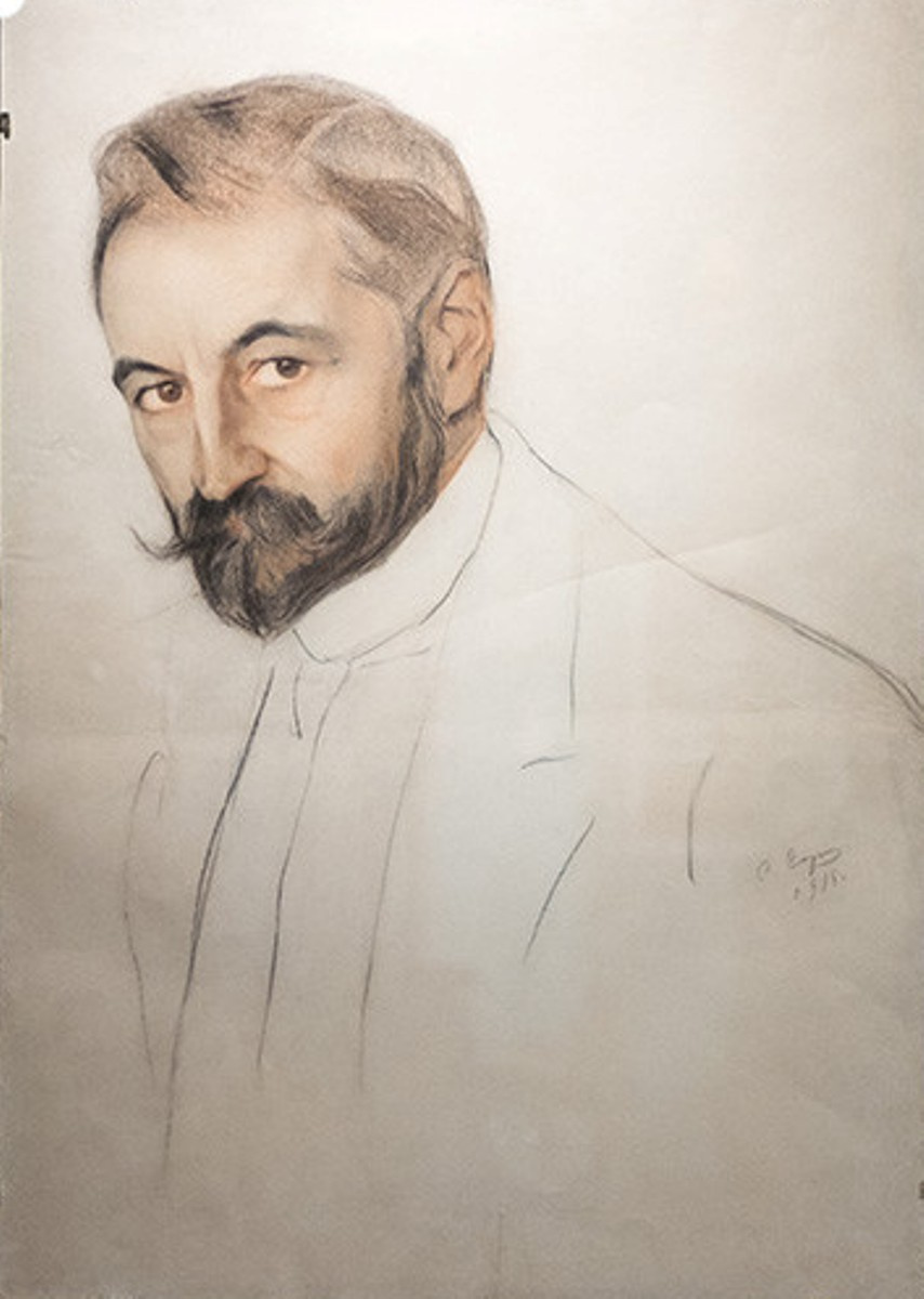 Савелий Абрамович Сорин. Портрет князя С. М. Волконского. 1915