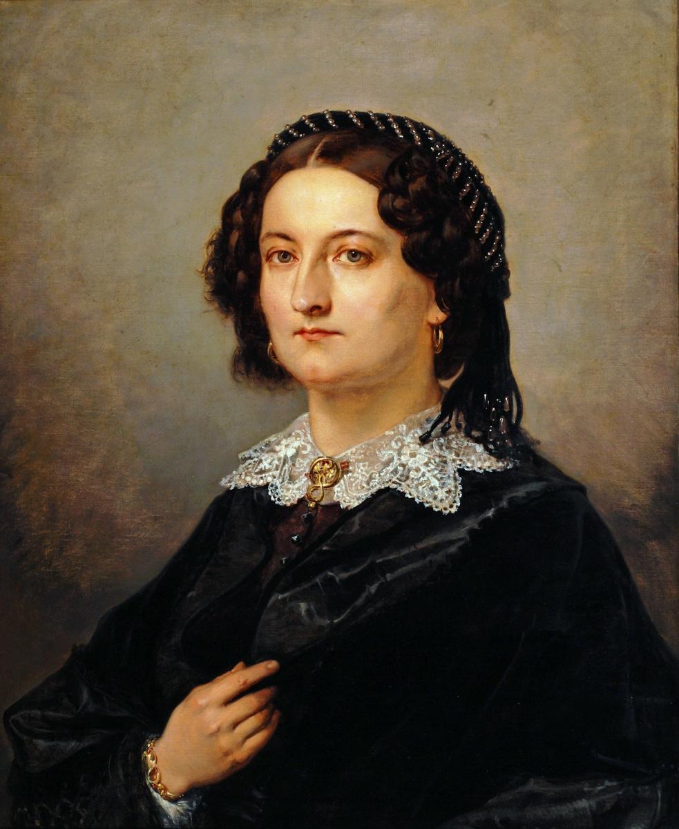Ян Матейко. Портрет Виктории Козинской, жены уполномоченного комиссара Кракова