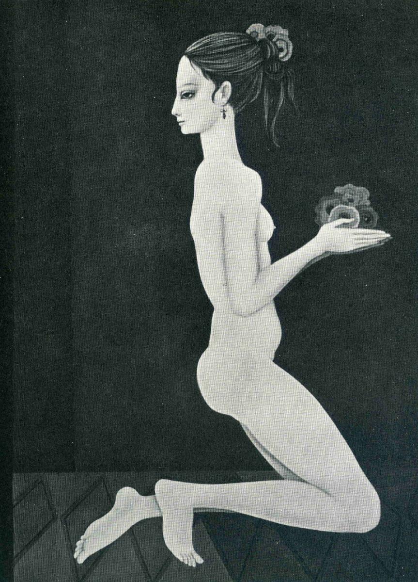 Маргарет Кин. Девушка с цветами