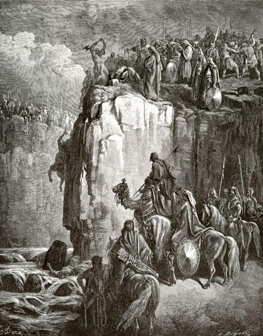 Поль Гюстав Доре. Пророк Илия умерщвляет пророков Ваала