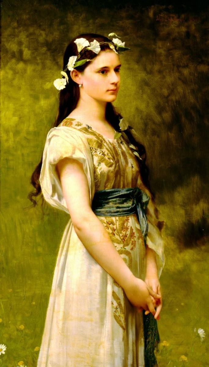Жюль Жозеф Лефевр. Портрет Джулии Фостер Вард.  1880