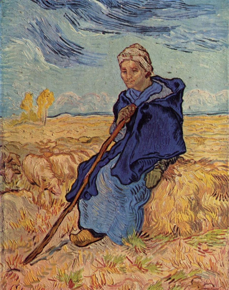 Винсент Ван Гог. Пастушка (по мотивам Милле)