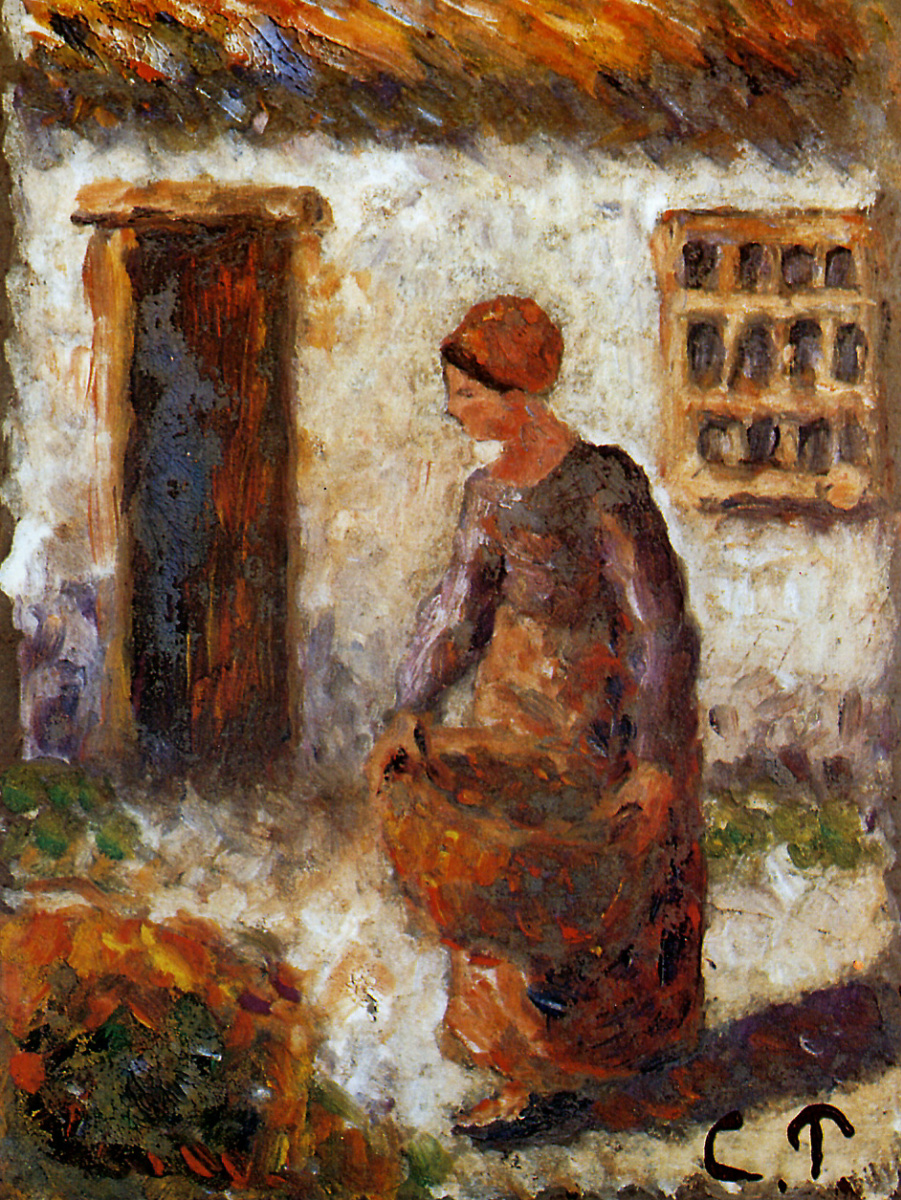 Камиль Писсарро. Крестьянка с корзиной