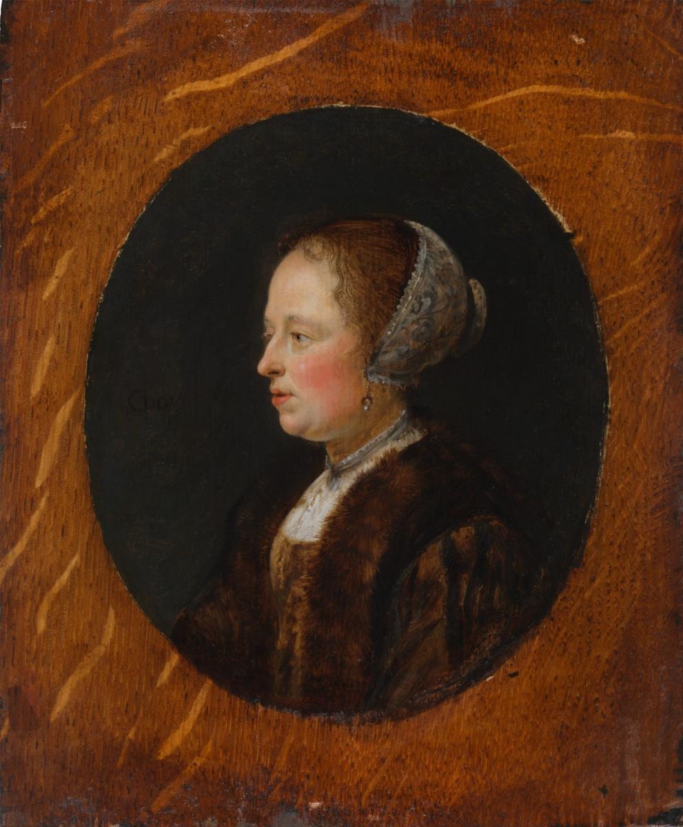 Геррит (Герард) Доу. Портрет женщины в профиль