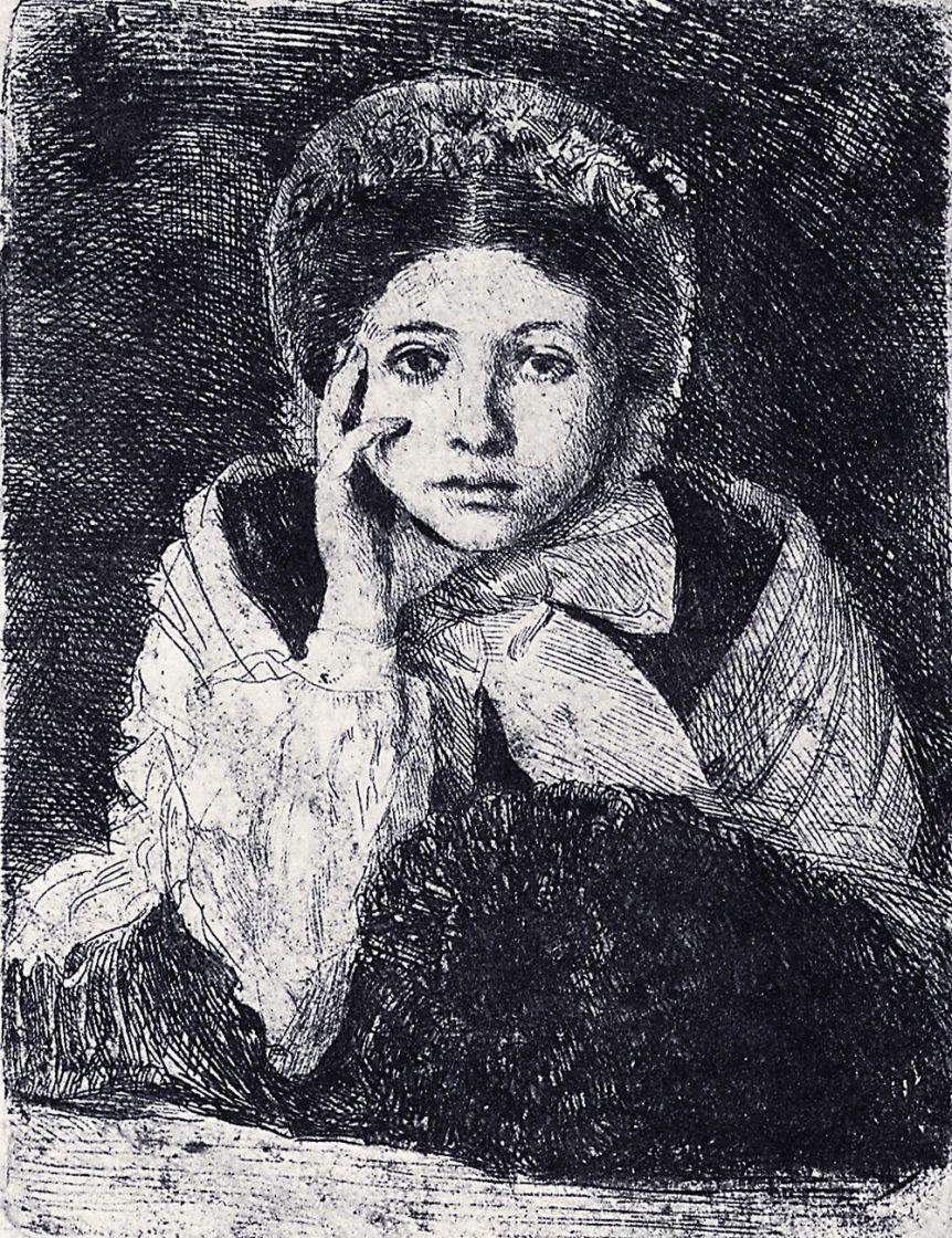 Эдгар Дега. Портрет Маргариты де Га, сестры художника