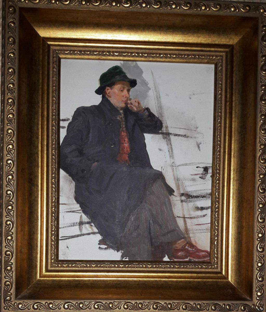 Kupriyanov. Portrait of the artist Pokhodaev