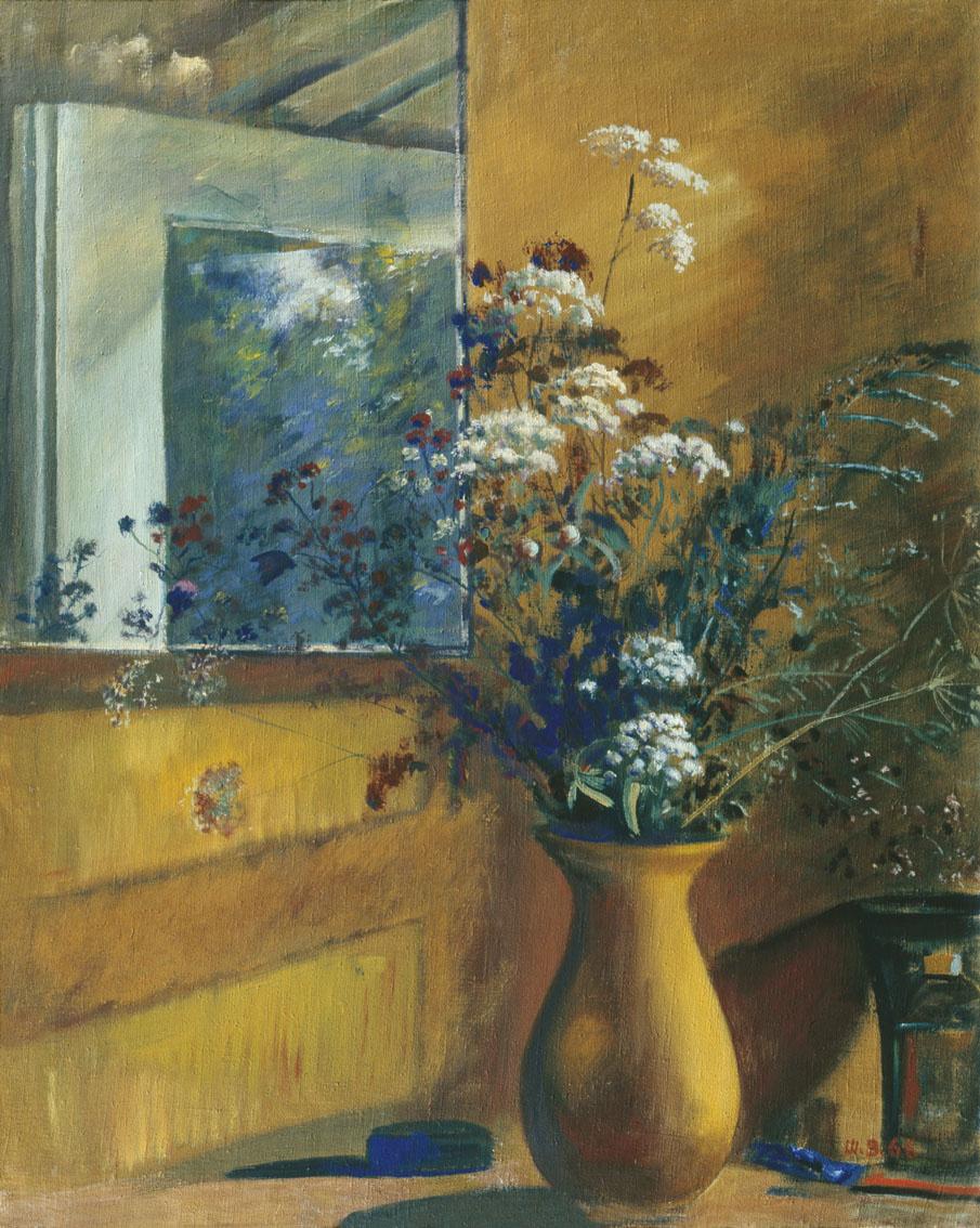 Vasily Ivanovich Shukhaev. Still life with a mirror. 1966