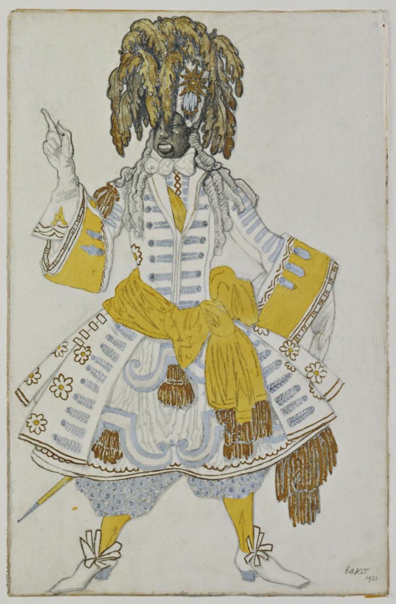 """Lev Samoilovich Bakst (Leon Bakst). Costume design for the ballet """"the Sleeping beauty"""""""