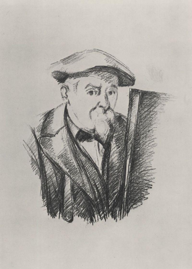 Поль Сезанн. Автопортрет перед мольбертом