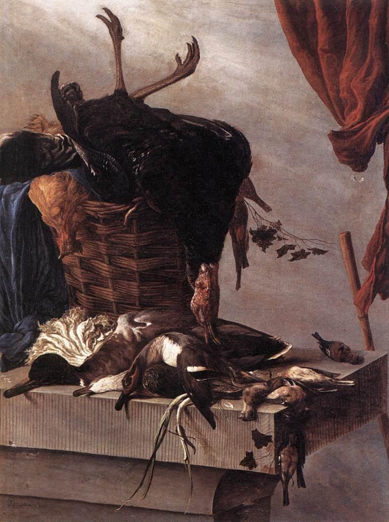 Саломон ван Рёйсдал. Натюрморт с Турцией