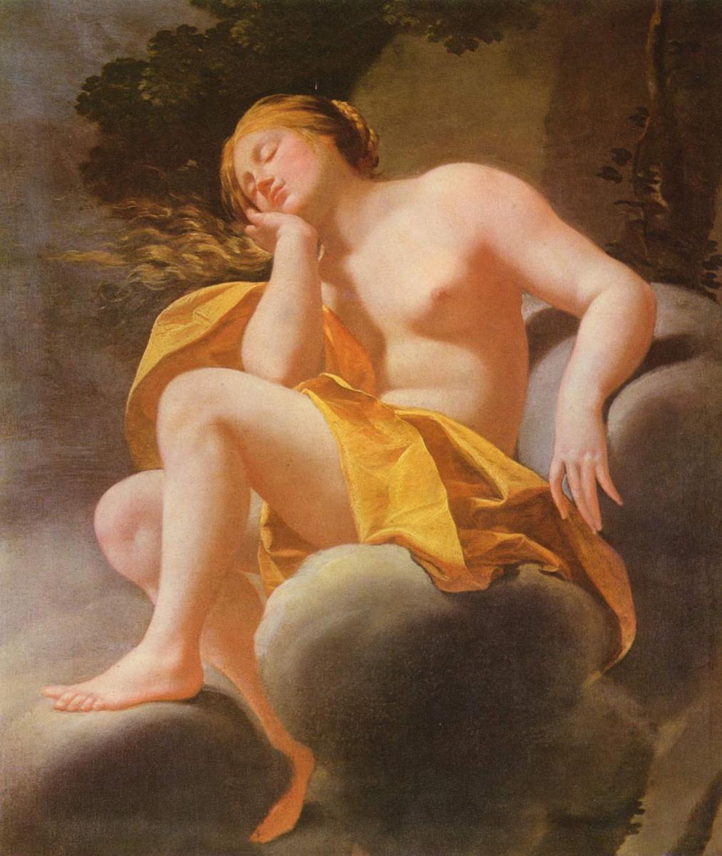 Simon Vouet. Venus sleeping on the clouds