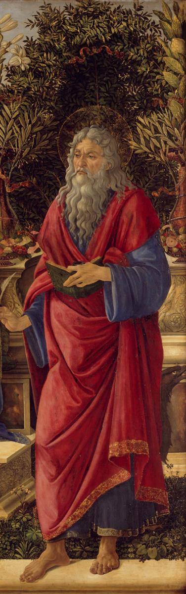 Sandro Botticelli. The Bardi altarpiece (detail)