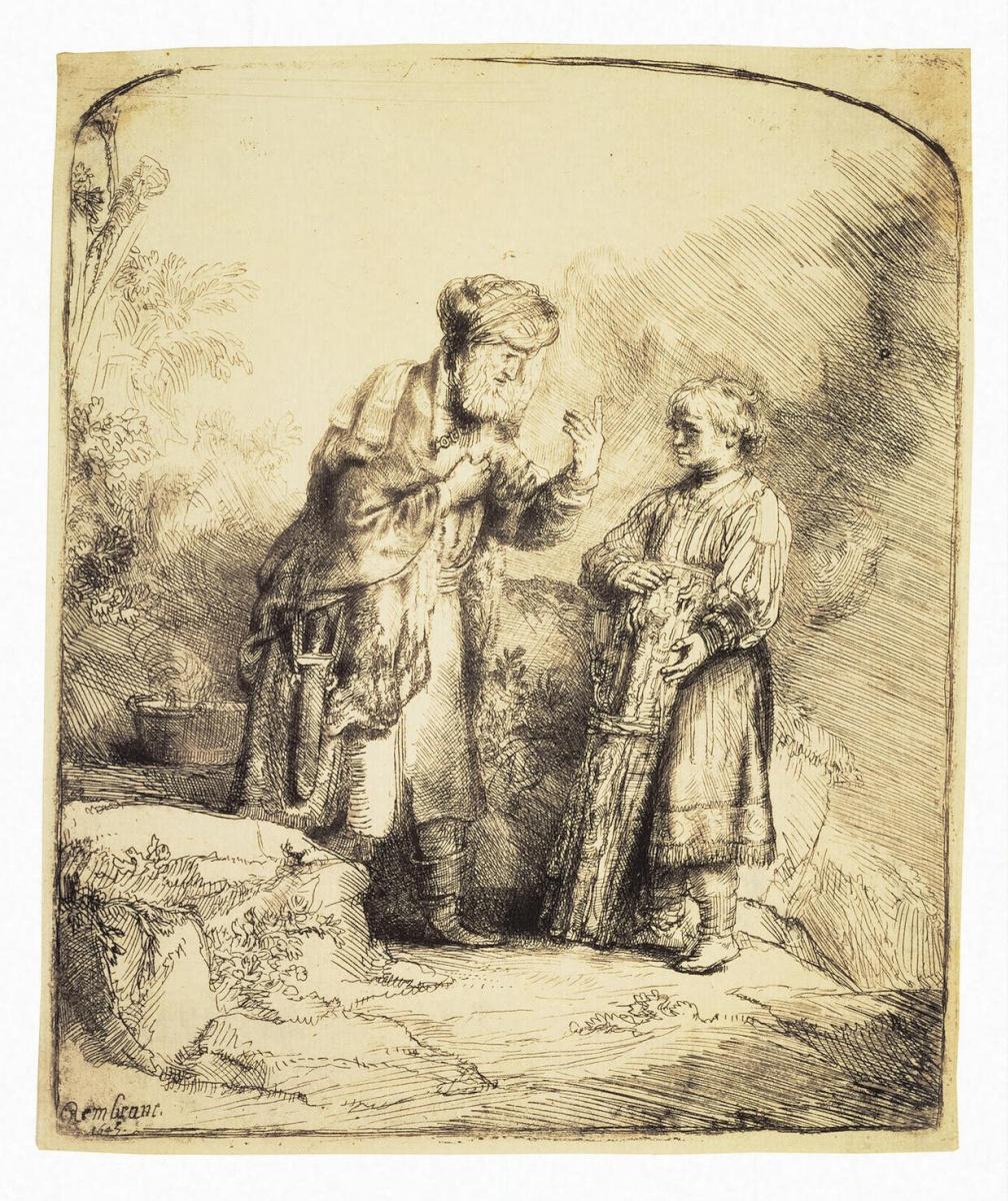 Рембрандт Ван Рейн. Авраам и Исаак