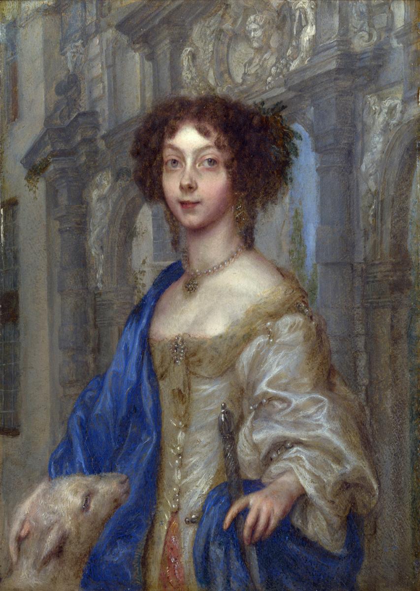 Гонсалес Кокууес После. Портрет женщины в качестве святой Агнессы