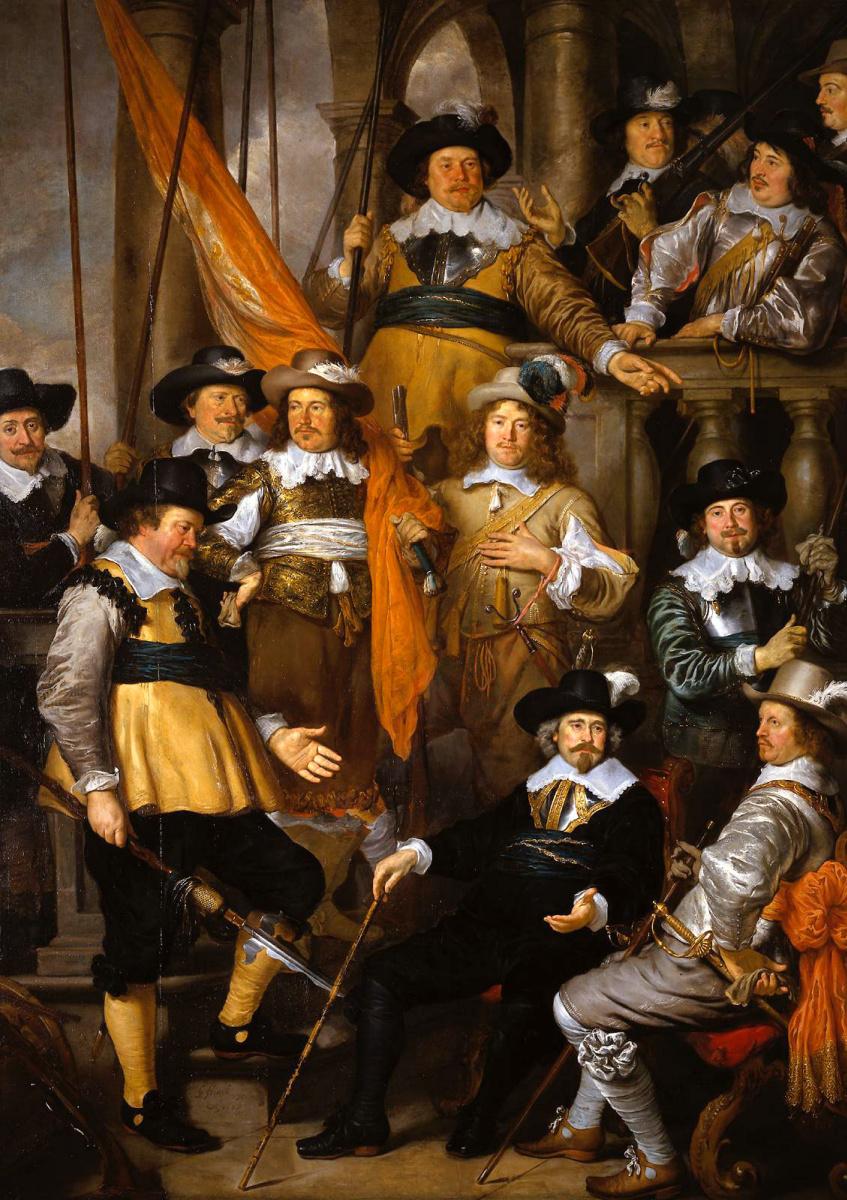 Govaert Flinck. Company of captain albert Bas and Lieutenant Lucas Corina